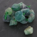 Irregular nugget bead drilled 18-35 mm Green Fluorite x1
