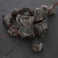 Irregular nugget bead drilled 18-35 mm Smoky Quartz x1