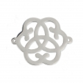 Stainless steel spacer 2 loops flower 22x17 mm x1