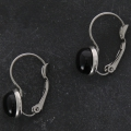 Stainless steel leverback earrings for cabochon 8 mm x2