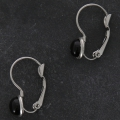 Stainless steel leverback earrings for cabochon 6 mm x2