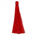 Large tassel without attachment 120 mm for decoration or jewels Red