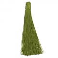 Large tassel without attachment 120 mm for decoration or jewels Olive