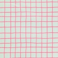 Tissu en coton enduit Big Pattern - Mint neon Pink tiles x10cm