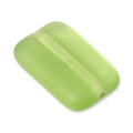 Glass beads Vintage par Puca® Rectangle 12x8x3 mm Peridot x10