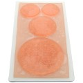 Stamp with plastic base 6 x 11 cm Mandalas/Rosaces x1