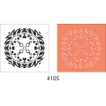 Stamp with plastic base 11 x 11 cm Mandalas x1