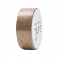 Adhesive Tape  - Paper Poetry Tape 15 mm Glitter Copper x5m