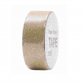 Adhesive Tape  - Paper Poetry Tape 15 mm Glitter Gold x5m