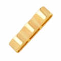 Triple square slider bead 38x9.5 mm for 10 mm laces - Gold Tone