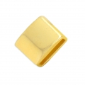 Square slider bead 12x9.5 mm for 10 mm lace - Gold Tone