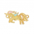 Spacer unicorn epoxy resin 2 loops 22 mm Pastel/Gold Tone