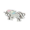 Spacer unicorn epoxy resin 2 loops 22 mm Pastel/Old Silver Tone