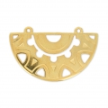 Pendant spacer 2 loops ethnic 40 mm Gold Tone