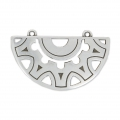 Pendant spacer 2 loops ethnic 40 mm Old Silver Tone