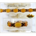 Glass beads Vintage by Puca® Oval 16x11x4 mm Topaz x10