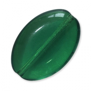Glass beads Vintage by Puca® Oval 16x11x4 mm Emerald x10
