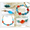 Glass beads Vintage by Puca® Oval 16x11x4 mm Aquamarine x10