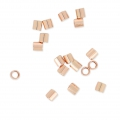Crimp Tubes 2x2 mm 14k Rose Gold filled x50