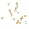 Crimp Tubes 2x2 mm 14k Gold filled x50