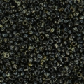 Miyuki seed beads 15/0 4511 - Opaque Black Picasso x8g