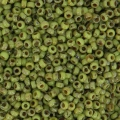 Miyuki seed beads 15/0 4515 - Opaque Chartreuse Picasso x8g