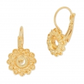 Leverback Earrings for Swarovski Cabochons 1028/1088 6 mm Gold Tone x2
