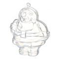Transparent Christmas plastic ball to fill 100 mm - Santa Claus x1