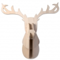 MDF Wooden reindeer trophy 60 x 50 x 38 cm to customize