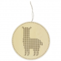 Wooden wall suspension to embroider 22 cm - Lama