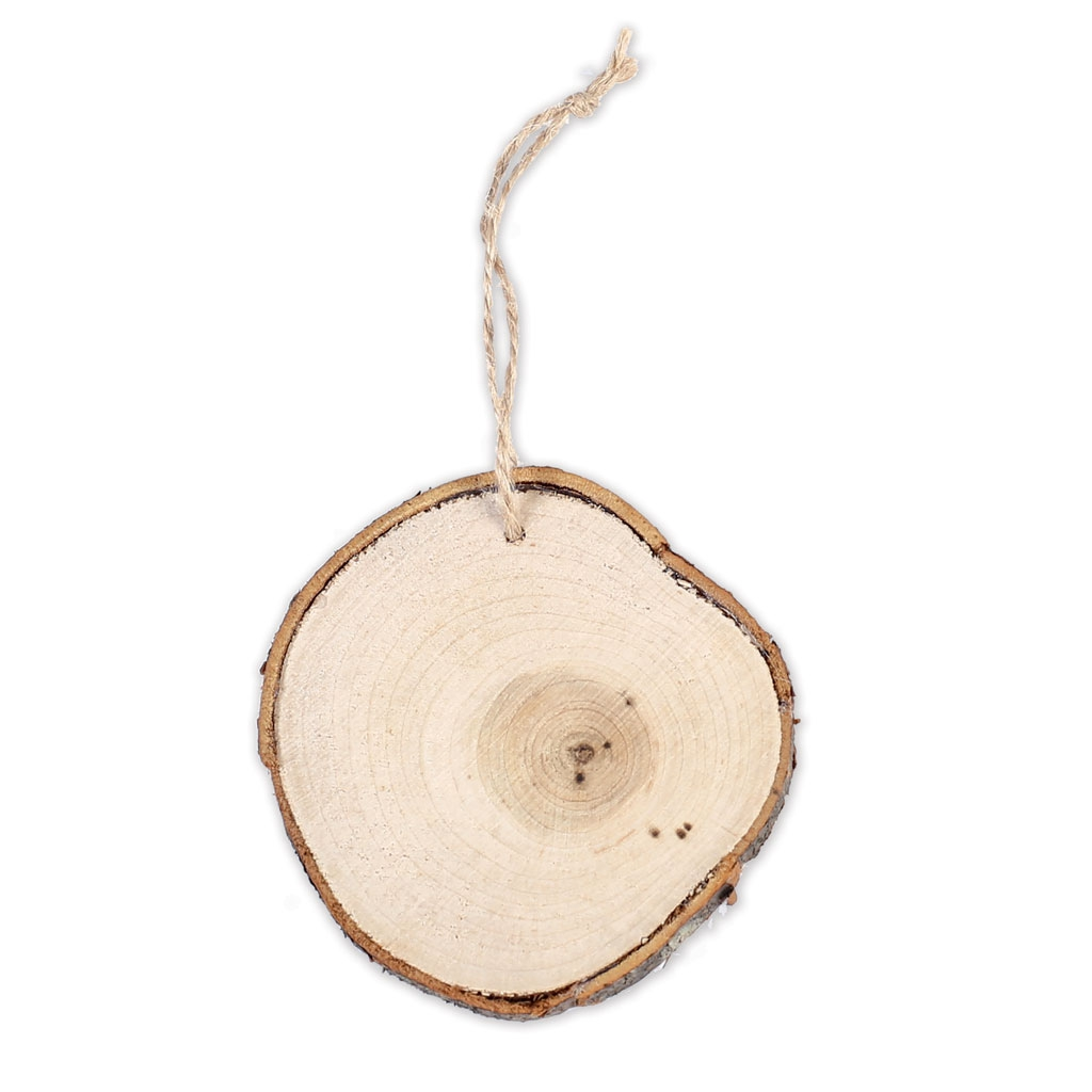 Wall decoration raw wood circle 85 mm for a diy decoration for Decoration murale acier