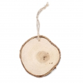 Wall decoration raw wood circle 85 mm for a DIY decoration x 1