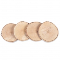 4 wooden circles 70 - 100 mm for DIY decoration