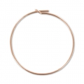 Hoop earrings to decorate 30 mm x 0.7mm - 14K Rose Gold filled x2