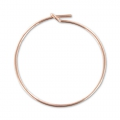 Hoop earrings to decorate 25 mm x 0.7mm - 14K Rose Gold filled x2