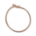 Hoop earrings to decorate 15 mm x 0.7 mm - 14K Rose Gold filled x2