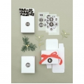 24 Advent Calendar boxes - Paper Poetry - X-Mas - White