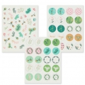 Assortment of 170 3D Stickers Paper Poetry Classical Christmas x1