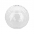 Transparent Xmas ball to fill 80 mm Faceted x1