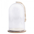 Plastic Christmas bell with base to decorate 8x13 cm Transparente x1