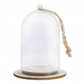 Plastic Christmas bell with base to decorate 6x9 cm Transparente x1
