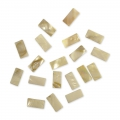 Set with 40 rectangular mother-of-pearl mosaics 10x20 mm x40g