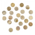 Set with 66 round mother-of-pearl mosaics 12 mm x40g