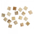 Set with 52 square mother-of-pearl mosaics 12x12 mm x40g