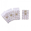 Small envelopes - gift pockets 7x10cm Triangle patterns x4