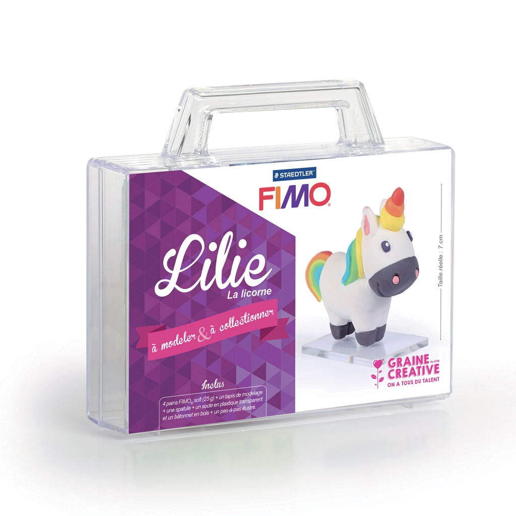 fimo clay modelling kit for kids figurine to collect lillie th