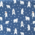 Coated Fabric Daily Like - Friendly Bear - Blue Polar Bear x10cm