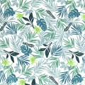 Cotton fabric Daily Like - In the tropics leaf  - Tropical x10cm