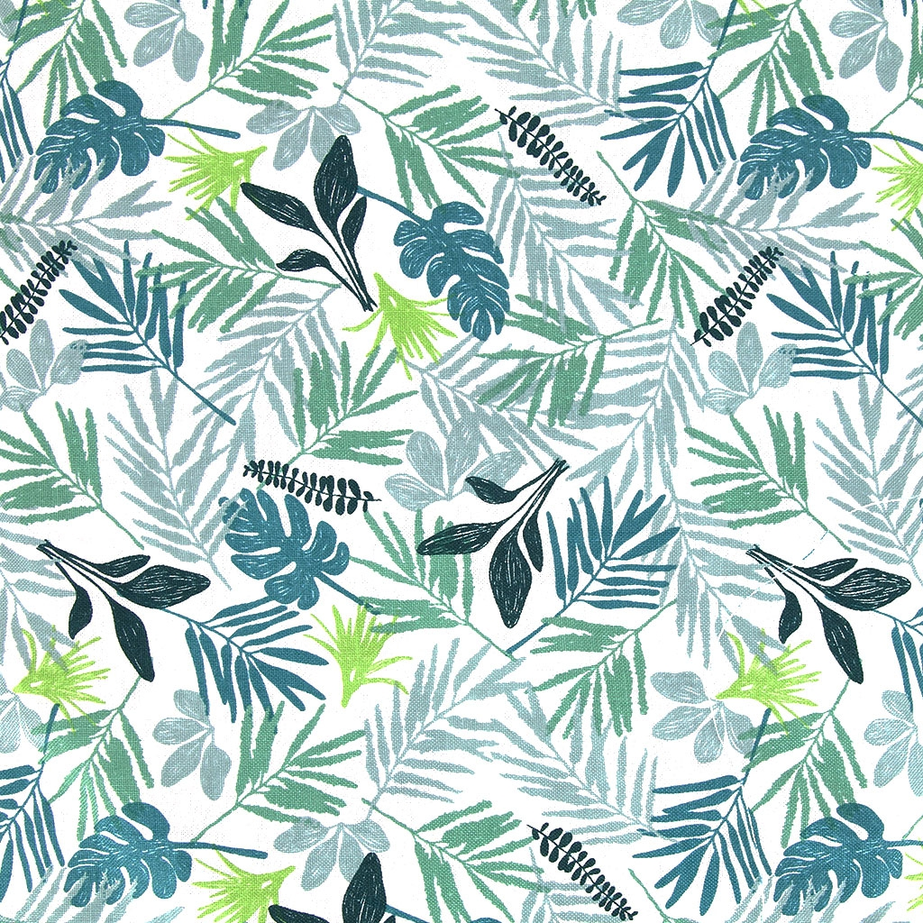 cotton fabric daily like in the tropics leaf tropical x10cm