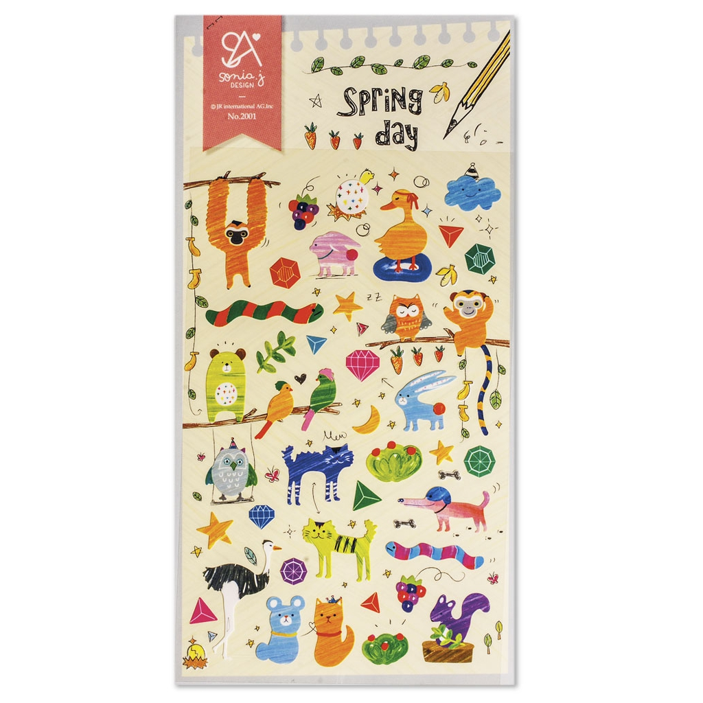 Assortment Of Mini Stickers Kawai 3d Spring Day Perles Co